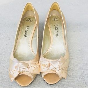 J.Renee Open Toe Heels Bow